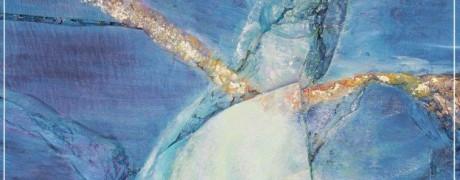Le grand voyage - collage sur bois huile sur ardoise - sulijen